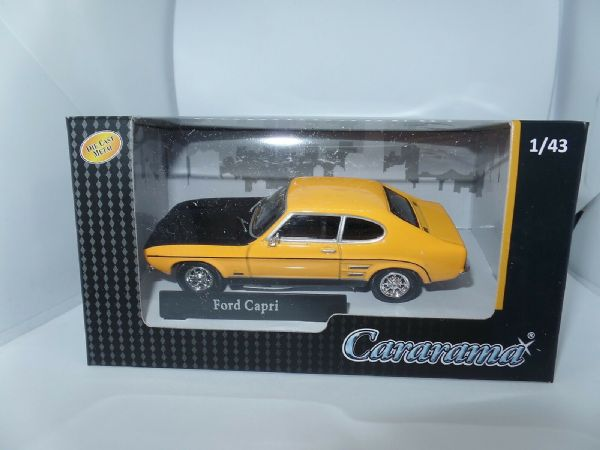 Cararama 4-14070 1/43 O Scale Ford Capri MkI Yellow Black Bonnet